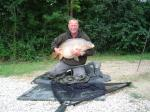 Chris Harris with his 39lb 8oz Carp from France 2007